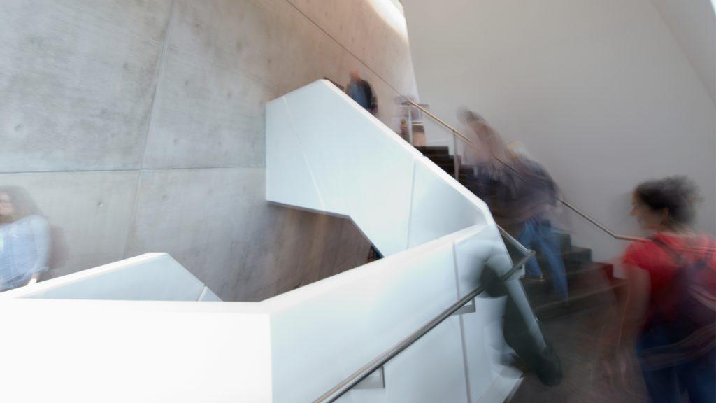 Treppe im Zentralgebäude